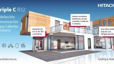 Triple C de Hitachi, sistema multi de expansión directa para viviendas y locales comerciales